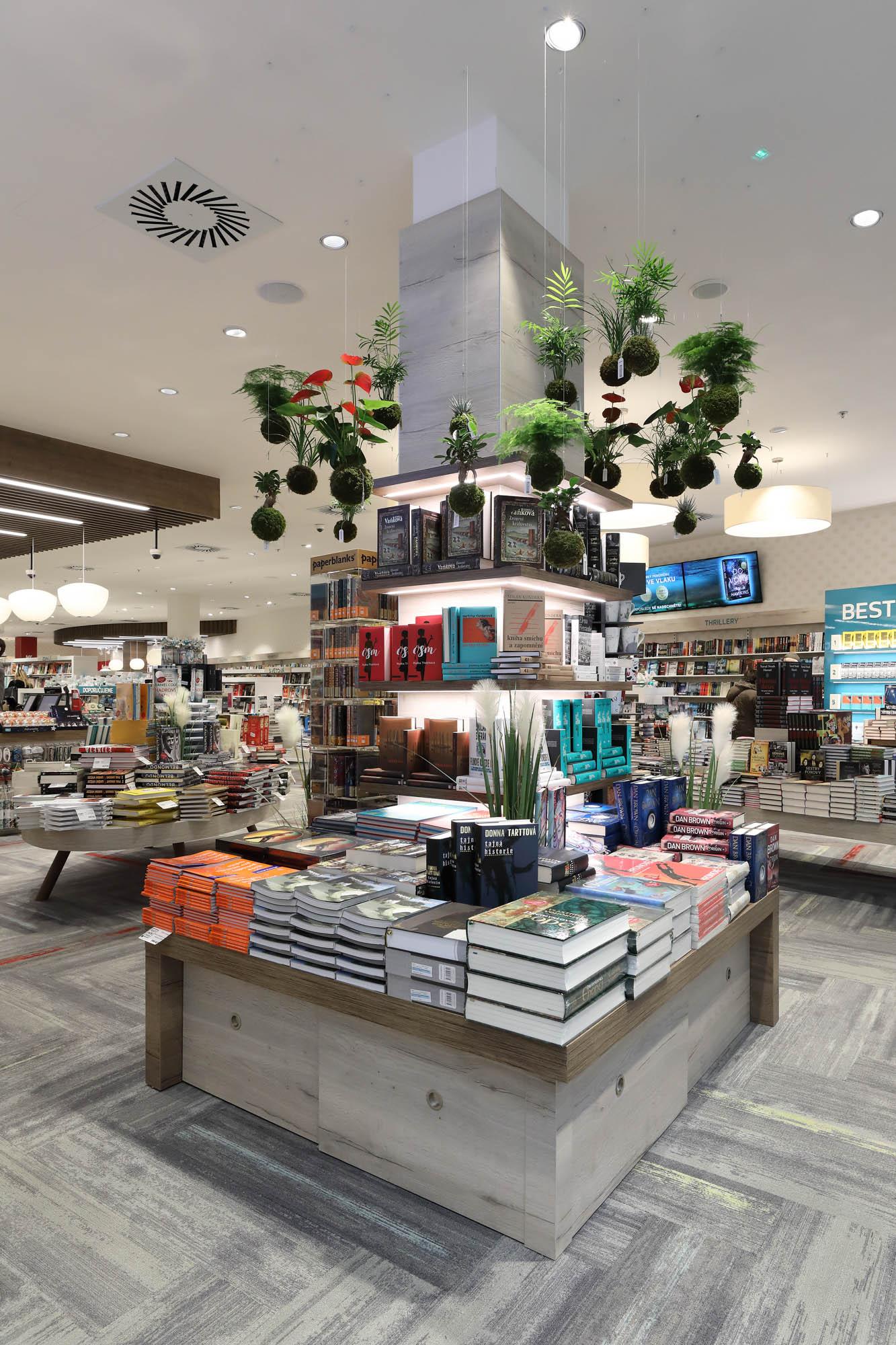 Knihkupectví Luxor, Instore design, design prodejen, návrh komerčních prostor